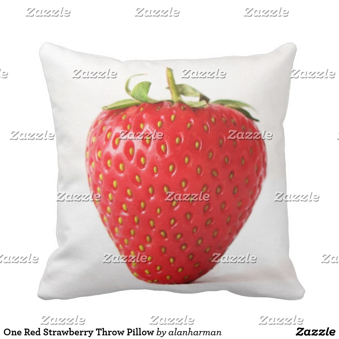 One Red Strawberry Tp Throw Pillow Zazzle Com Strawberry Throw Pillows Red