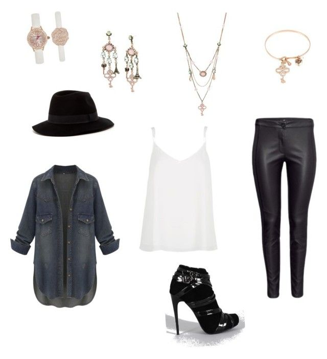 """""""#denim #leather #betseyjohnson #fashion #stylish #style #dressforless"""" by jennspolyvorestyling on Polyvore featuring River Island, Liliana, 14th & Union and Betsey Johnson"""