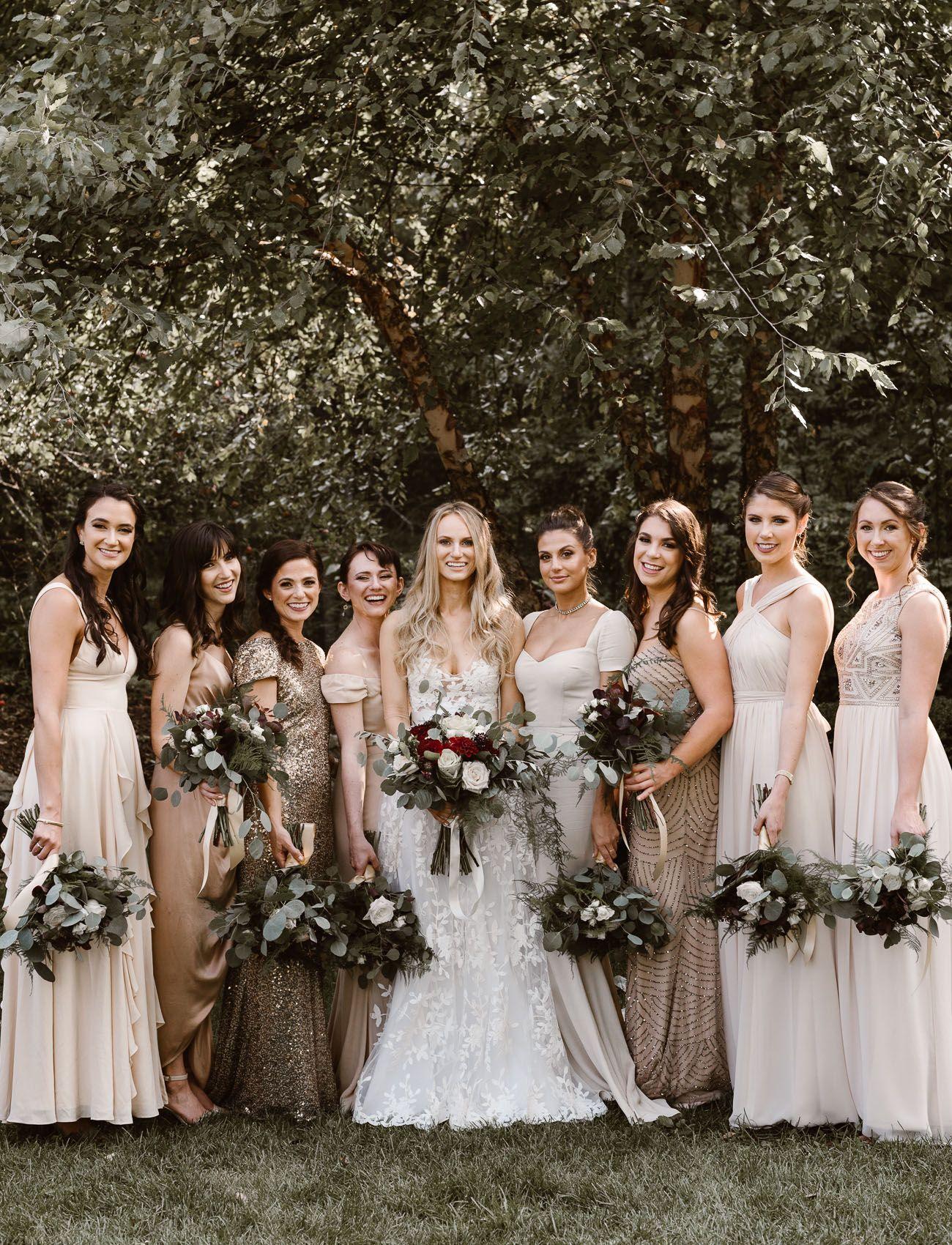 Rustic Elegance A Black Tie Wedding In The Woods Bridesmaids