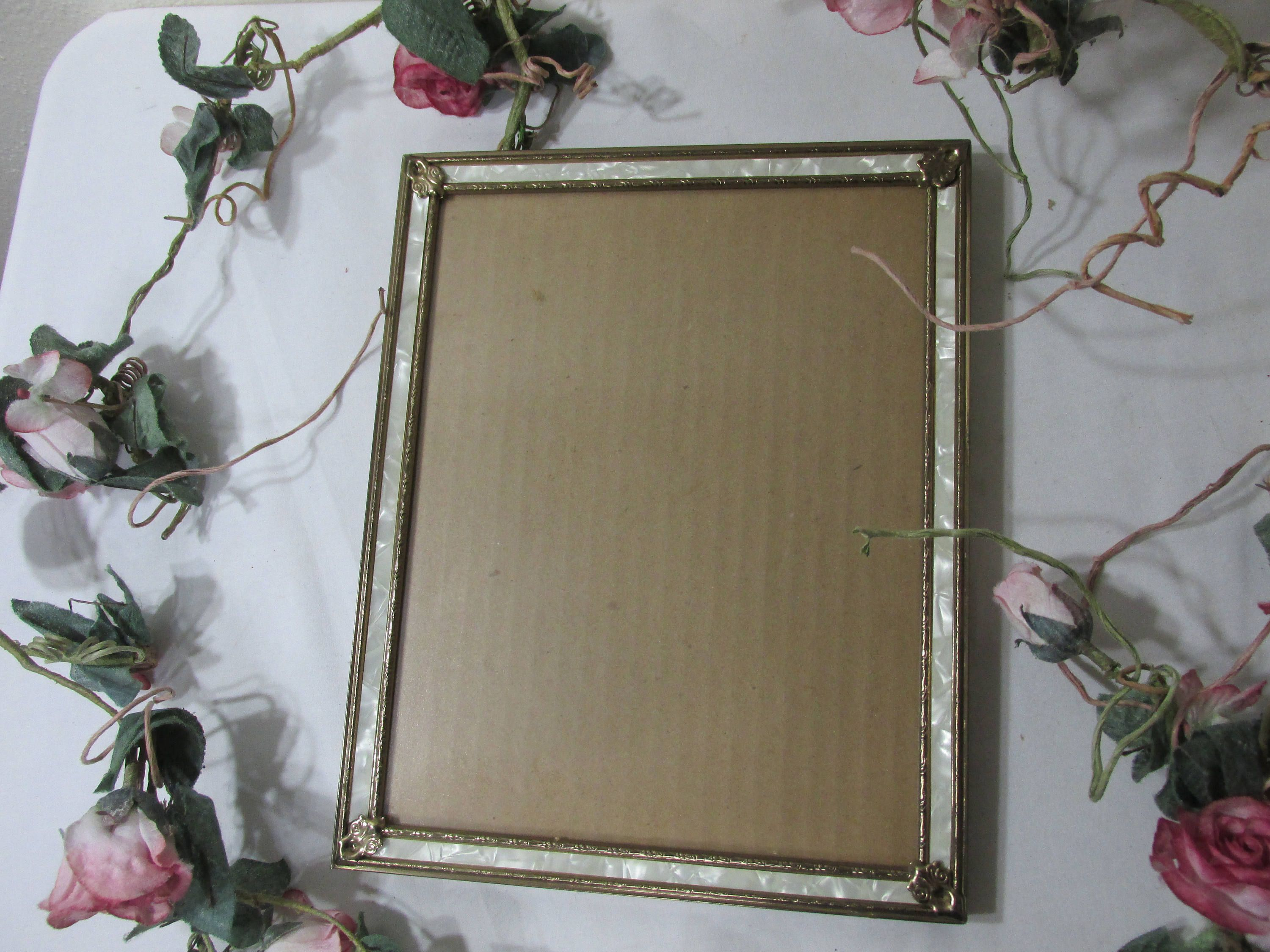 Picture frame vintage 8 x 10 metal gold tone with mother of pearl picture frame vintage 8 x 10 metal gold tone with mother of pearl by luruuniques on jeuxipadfo Images