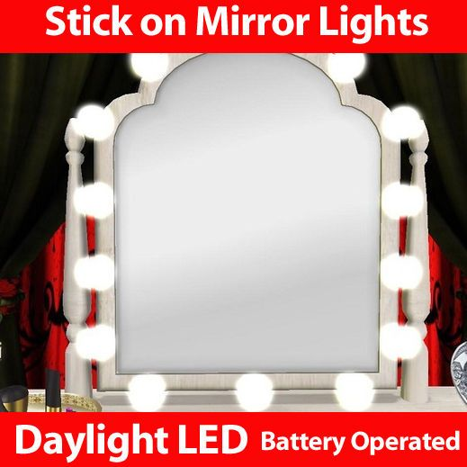 Mirror LED Stick On Lights Dressing Table Light Lamp Lights Mirror Make Up  Hair