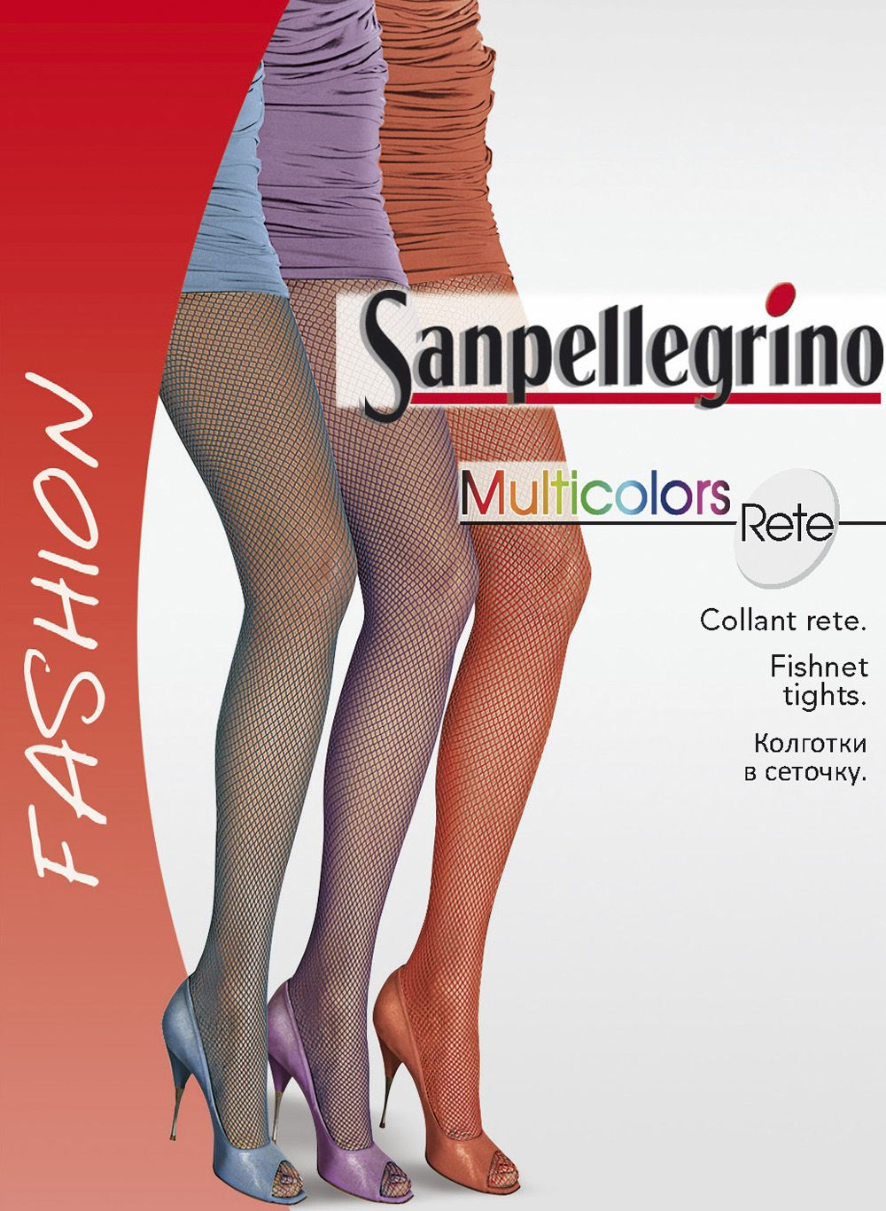 5aabfe5f4 Sanpellegrino Hosiery Collection 30  Sanpellegrino Fishnet Tights