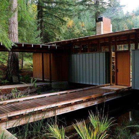 Garden deck bridge
