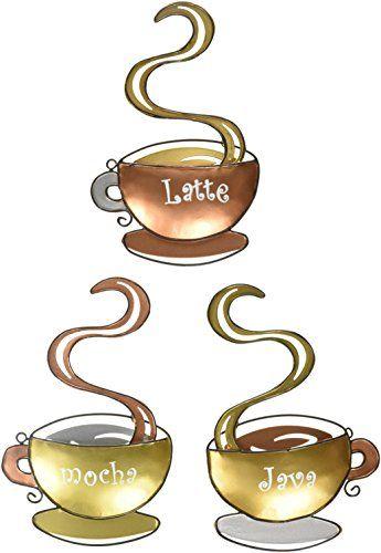 Coffee House Cup Mug Latte Java Mocha Metal Wall Art Home Decor ...