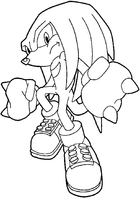 How To Draw Knuckles The Echidna From Sonic The Hedgehog With Easy Step By Step Drawing Tutorial How To Draw Step By Step Drawing Tutorials Hedgehog Colors Coloring Pages Cartoon