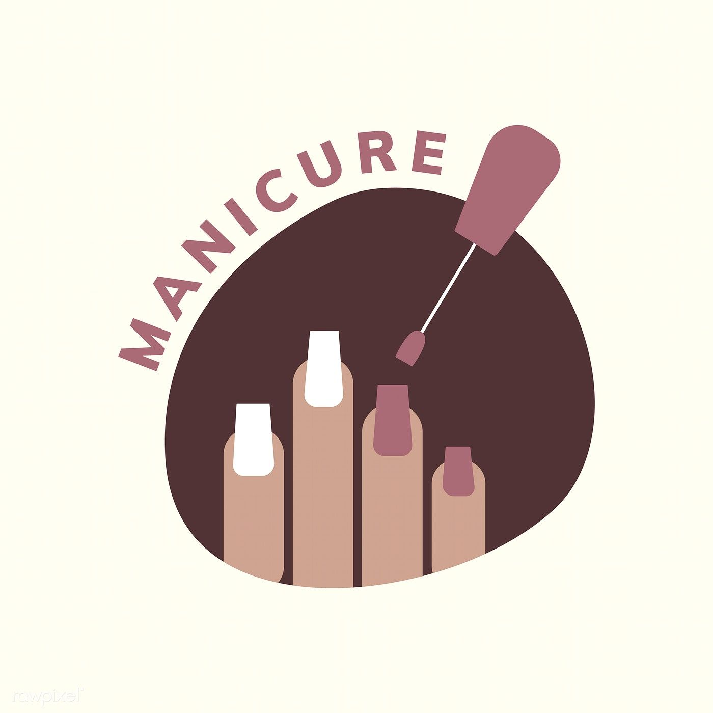 Manicure and pedicure salon logo free image by rawpixel