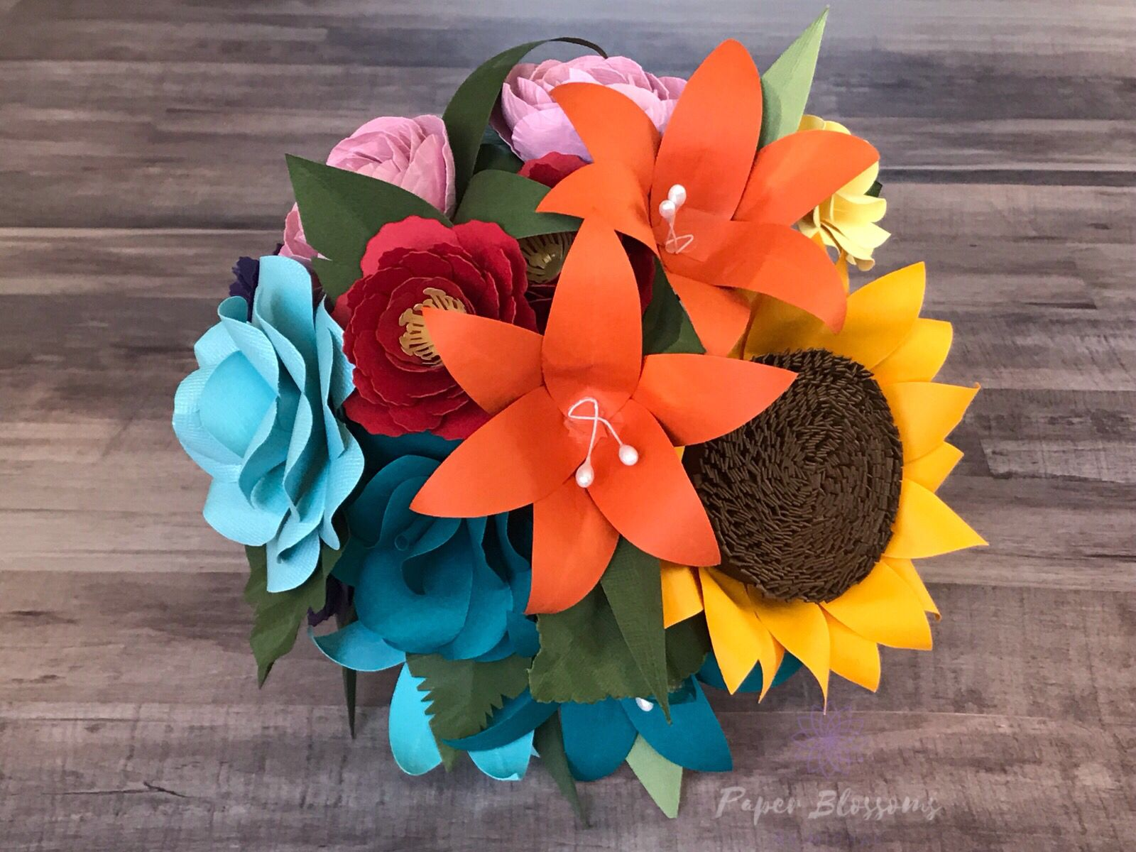 Rainbow Paper Flower Bouquet Rainbow Decorations Paper Flower Bouquet Paper Flowers
