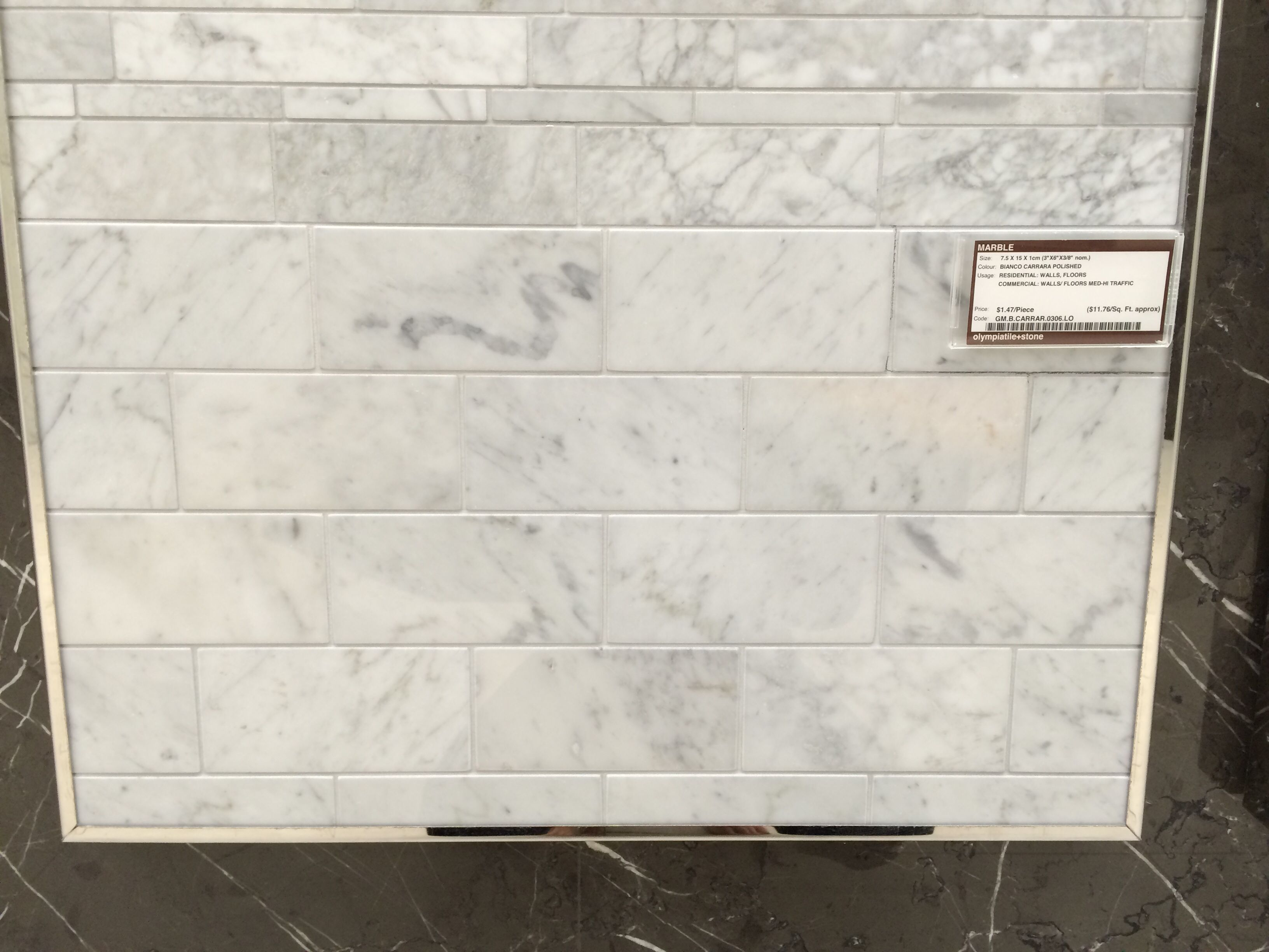 Bianco Carrara Marble Tile From Olympia