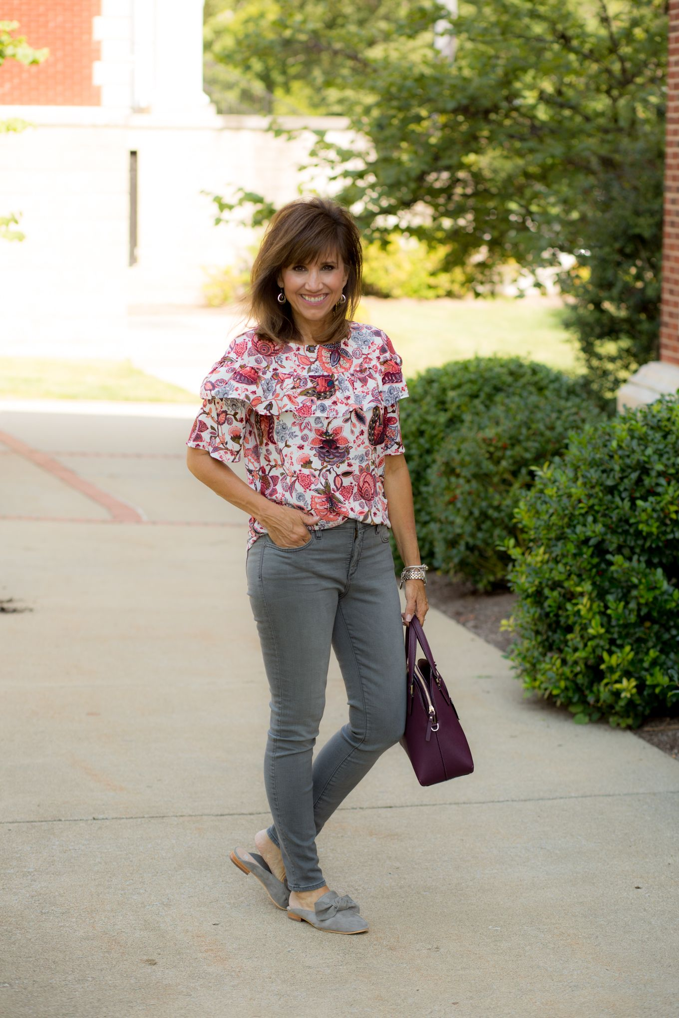 Ruffle Blouse + Mules for Fall is part of Clothes Fall Blouses - Welcome to 26 Days of Fall Fashion! Today I'm sharing a ruffle blouse from LOFT and a pair of mules  Mules are definitely the  it  shoe for fall