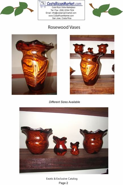 Costa Rica Rosewood Vases Are The Newest Members Of Our Large