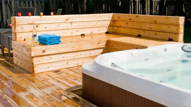 Terrasse Avec Spa Integre Spa Beliefs Pinterest Jacuzzi