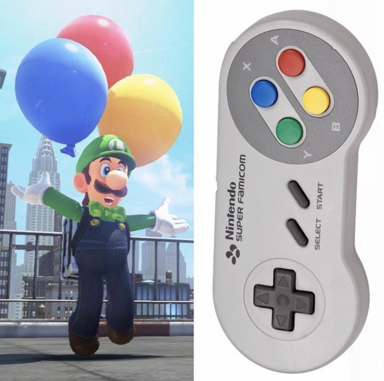 Luigi picked these balloons carefully I think! (Credit