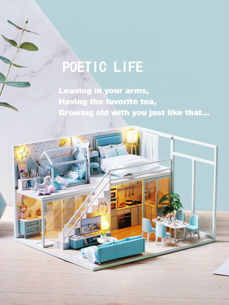 Dreams Assembling Diy Miniature House Kit Poetic Life
