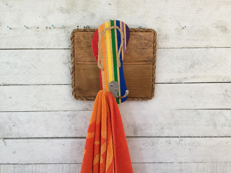 Flip Flop Towel Rack Outdoor Shower Hooks Pool Towel Rack Key