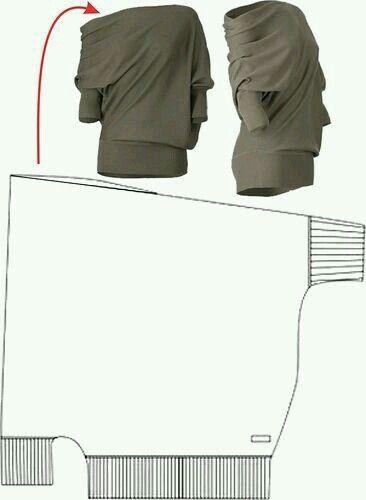 Sencillo diseño de blusón