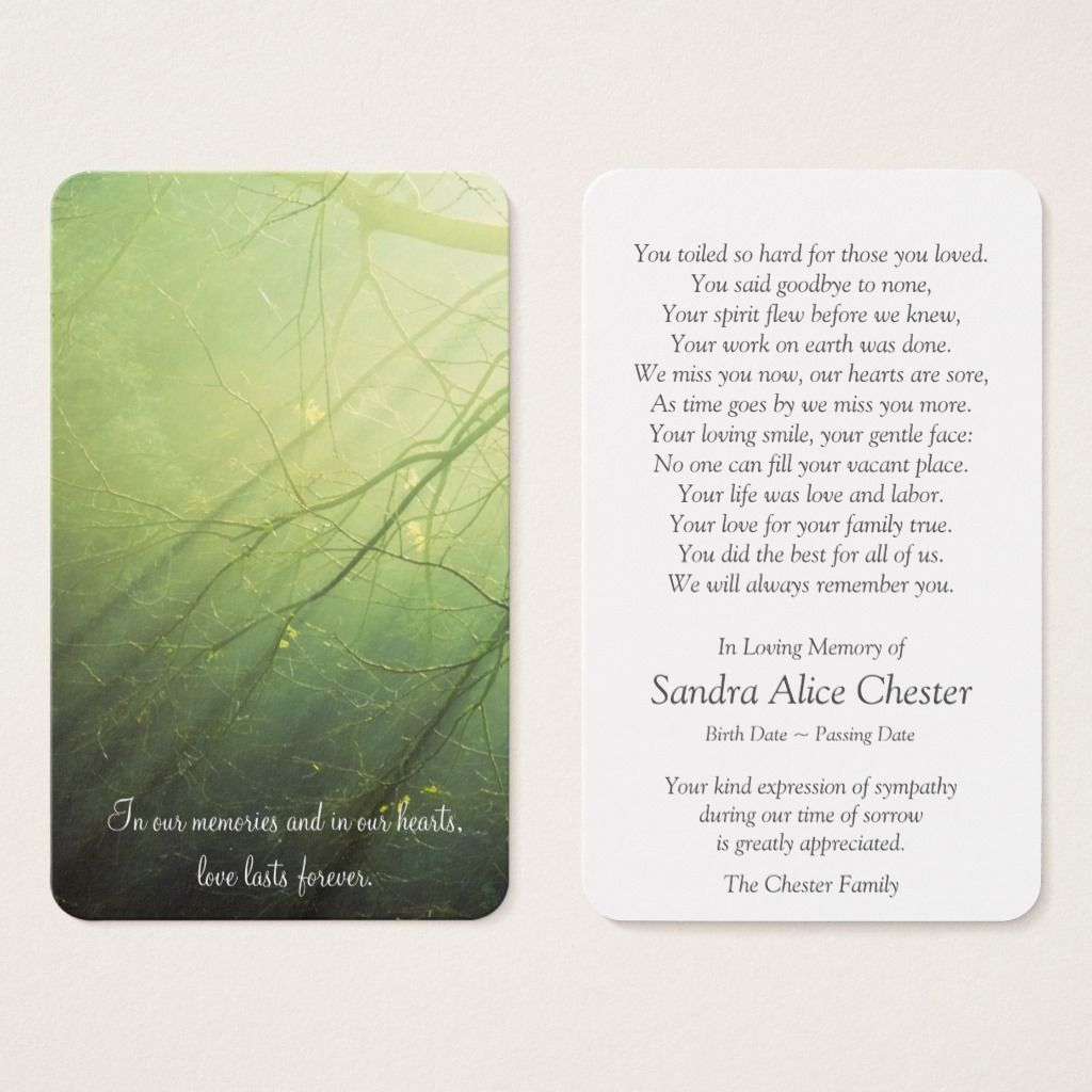 Prayer Cards Peaceful Forest