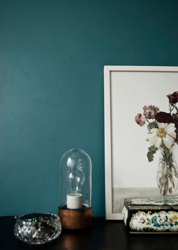 #KOLORAT #Wandfarbe #Wandgestaltung #Blau #Petrol #Interior #Wohnideen