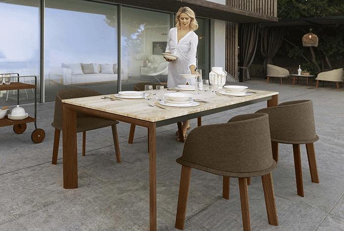 Tavoli Di Marmo Da Giardino : Tavolo da giardino di design in legno di teak e marmo cleo.png 700