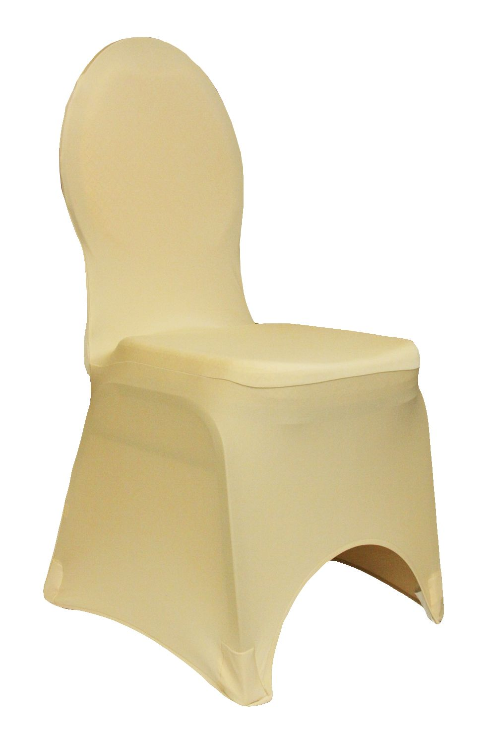 Spandex Banquet Chair Cover - Champagne www.cvlinens.com #wedding #event #party #chaircovers #spandex #stretch #champagne #tan #bodas #eventos #fiestas #sillas #covertores