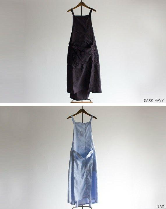 【商品説明】 ウエスト後だけ調節という形はフロントスタイルがスッキリで、ふんわりとしたバックスタイルと印象を変えています。 YARMOの空気感をデイリーに取り入れて、自身のスタイリングを確立して下さい。 【採寸】 サイズ:F 胸当てトップ幅23.5cm | 胸当てからの着丈104.5cm | 肩紐最大の長さ67cm 【素材】 綿100% ¥23,000 税別