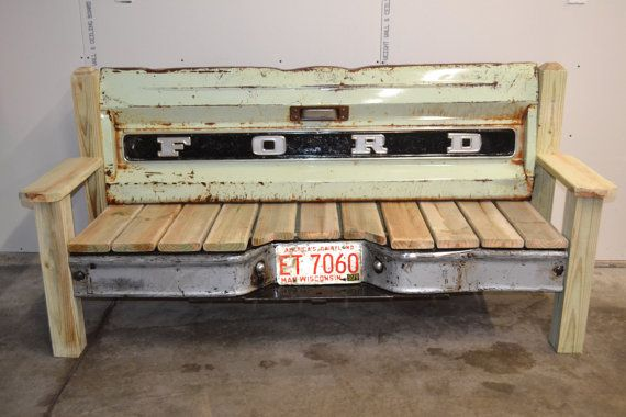 70 S Ford Patina Tailgate Bench By Tailgateguy On Etsy Tailgate Bench Truck Tailgate Bench Tailgate
