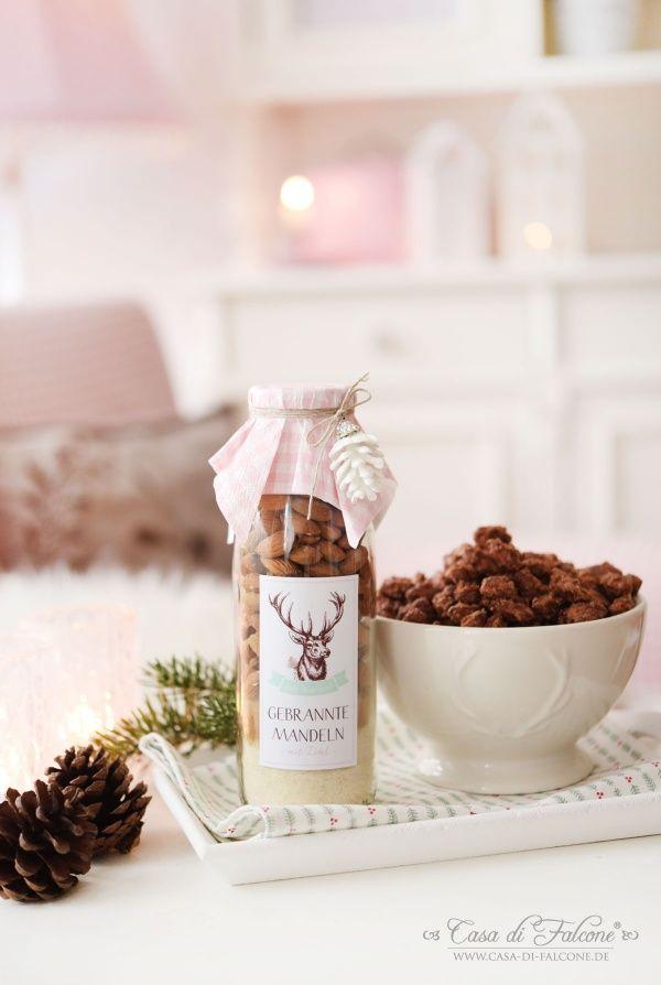 Gebrannte Mandeln Mix In Der Flasche Rezept Gebrannte Mandeln Mandeln Geschenke Aus Der Kuche