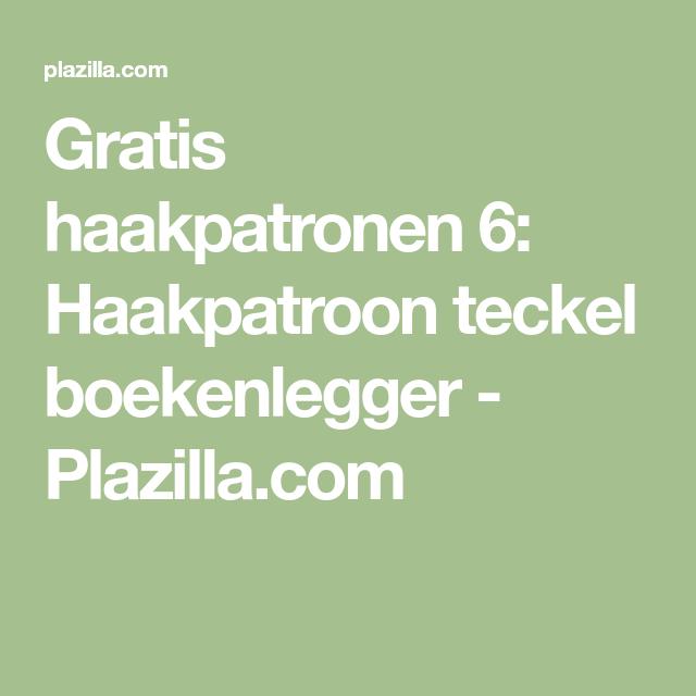 Nieuw Gratis haakpatronen 6: Haakpatroon teckel boekenlegger - Plazilla DW-41