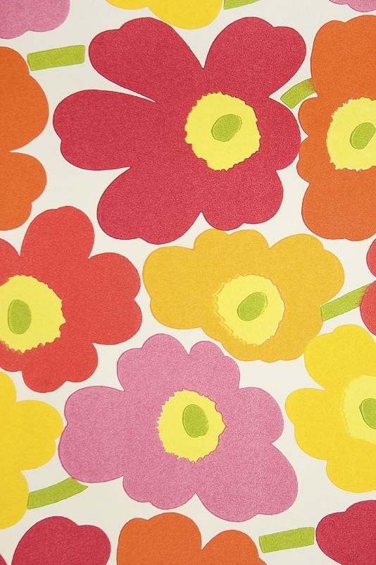 Marimekko unikko red poppies home decor
