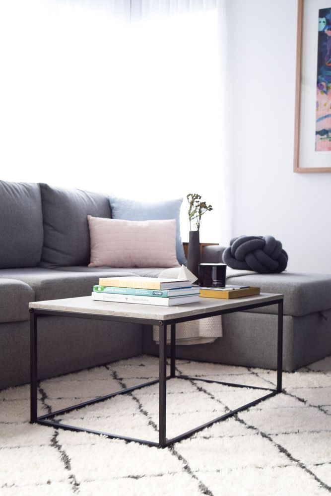 Kmart Hack Coffee Table Cheap Veneer To Luxe Concrete Top