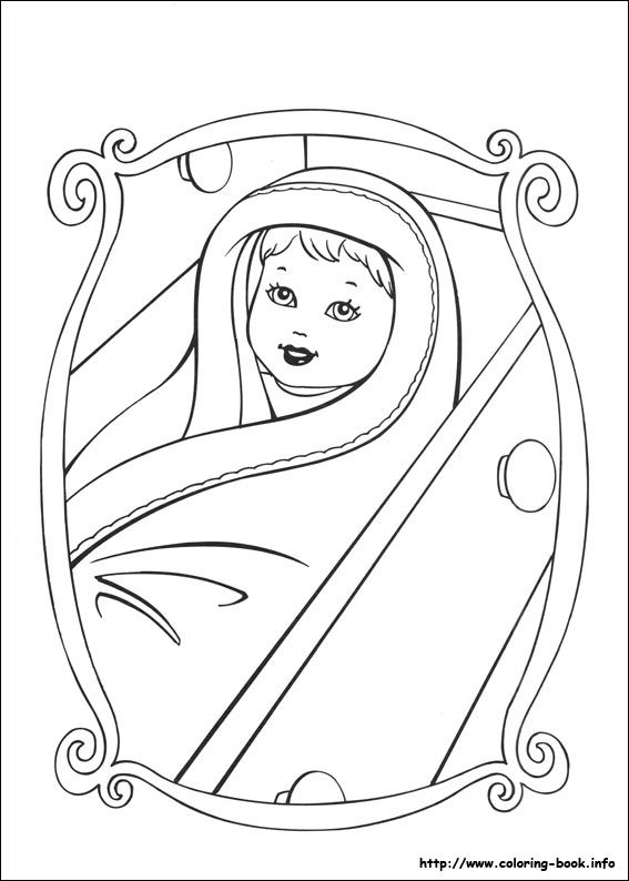 barbie and baby coloring pages | Barbie as the Princess and the Pauper coloring picture ...