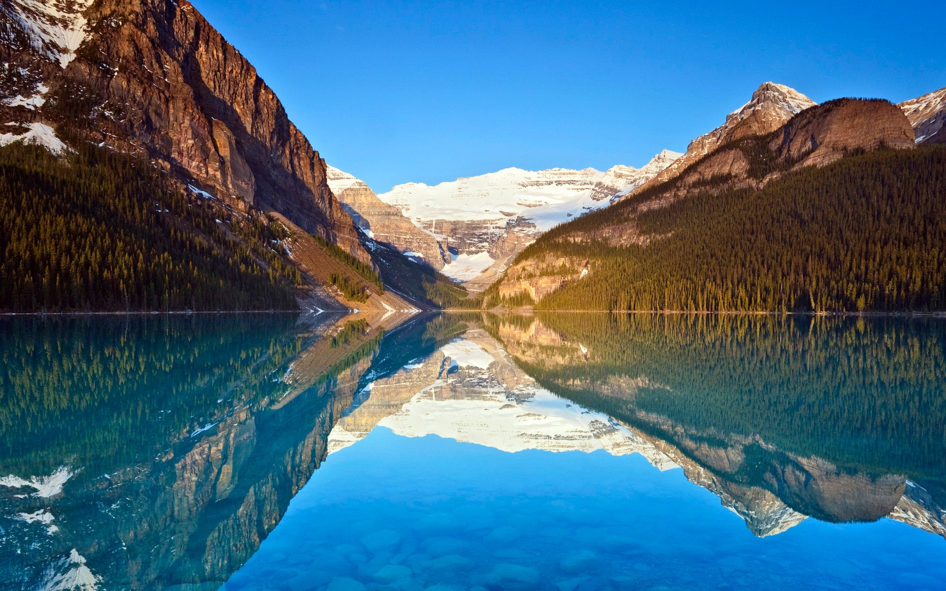 Reflections Lake Louise Reflections Plano de fundo pc