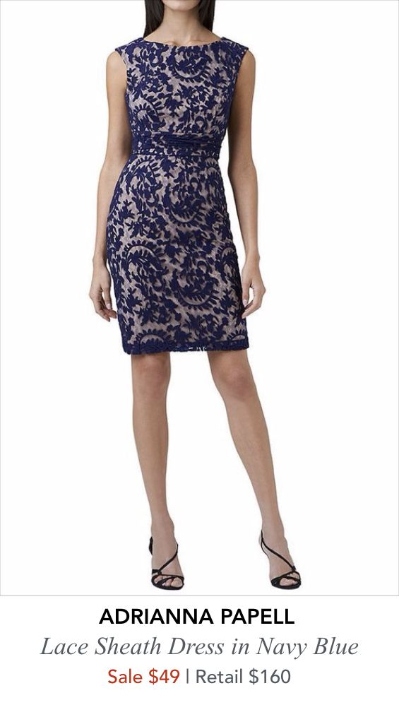 SALE Alert Adrianna Papell Blue Lace dress which is perfect
