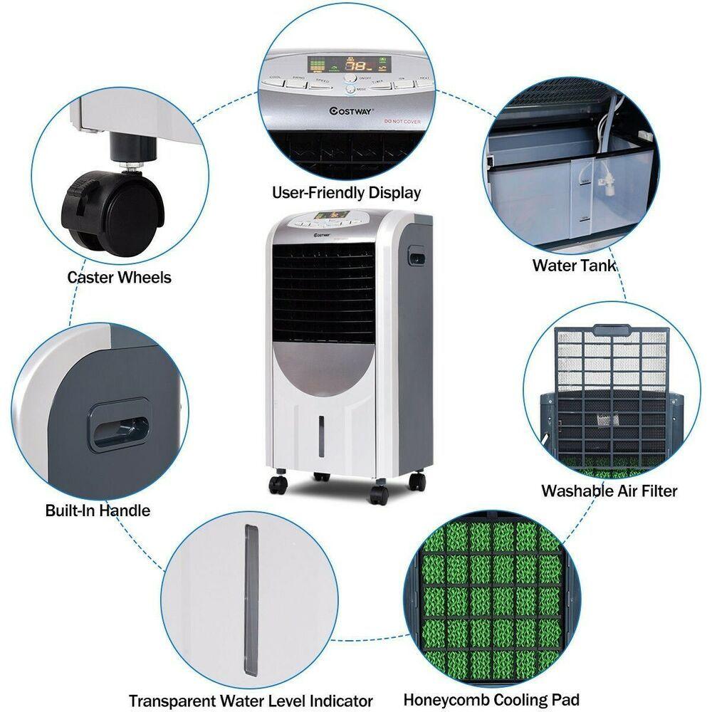 Portable Air Conditioner Evaporative Cooler Heater