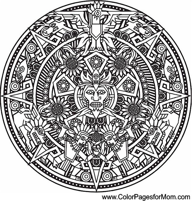 Southwestern Native American Coloring Page 28 Aztec Tattoo Designs Mandala Coloring Pages Aztec Tattoo