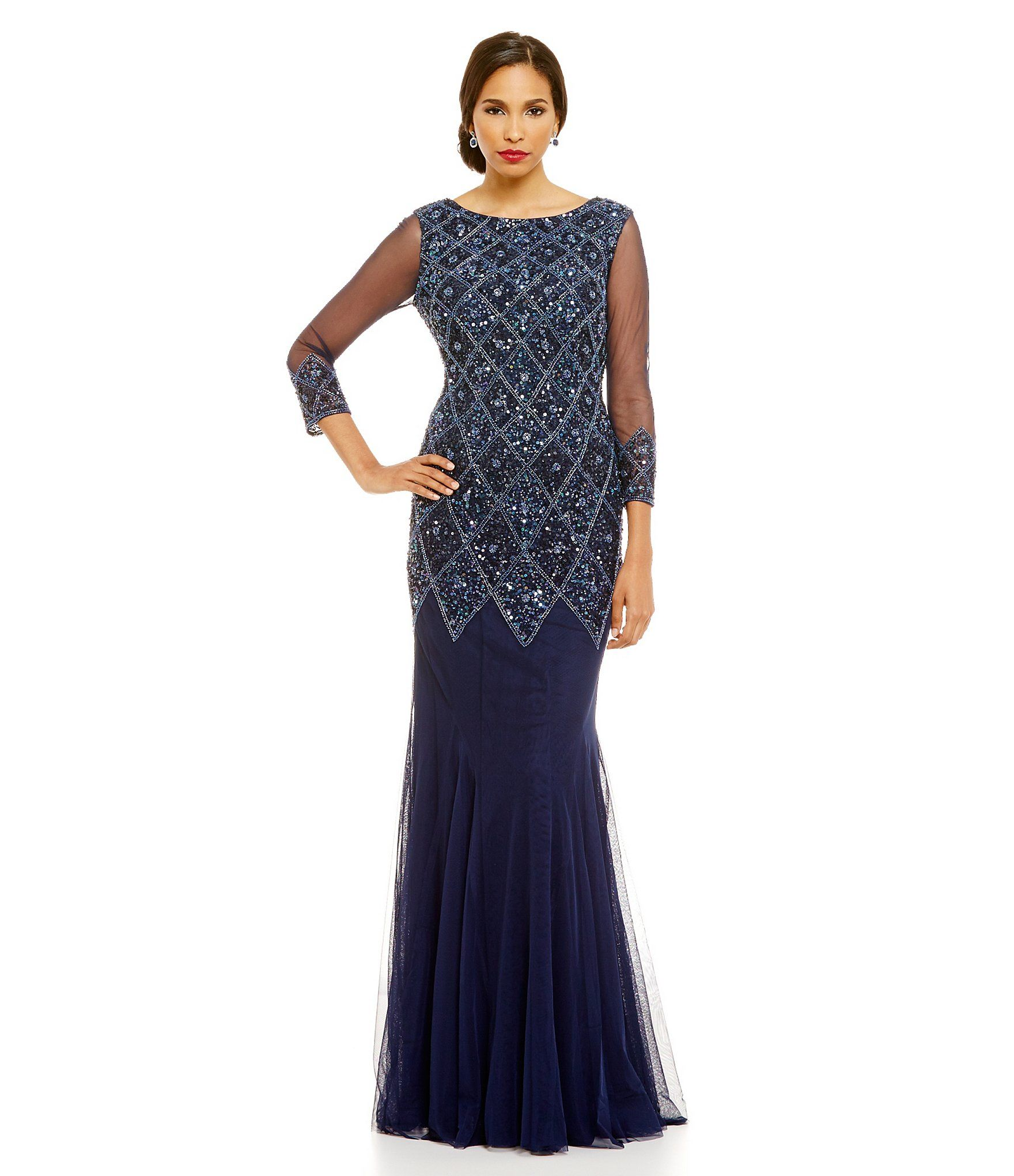 Shop for JS Collections Diamond Beaded Gown at Dillards.com. Visit ...