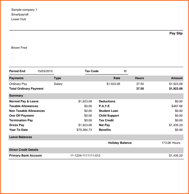payslip template uk for mac