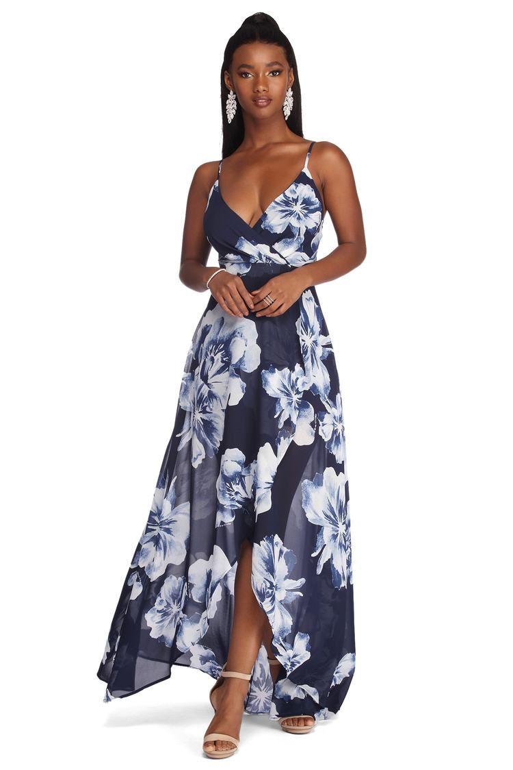 Mary Formal High Low Chiffon Dress In 2021 High Low Chiffon Dress Wedding Attire Guest Dresses [ 1124 x 750 Pixel ]
