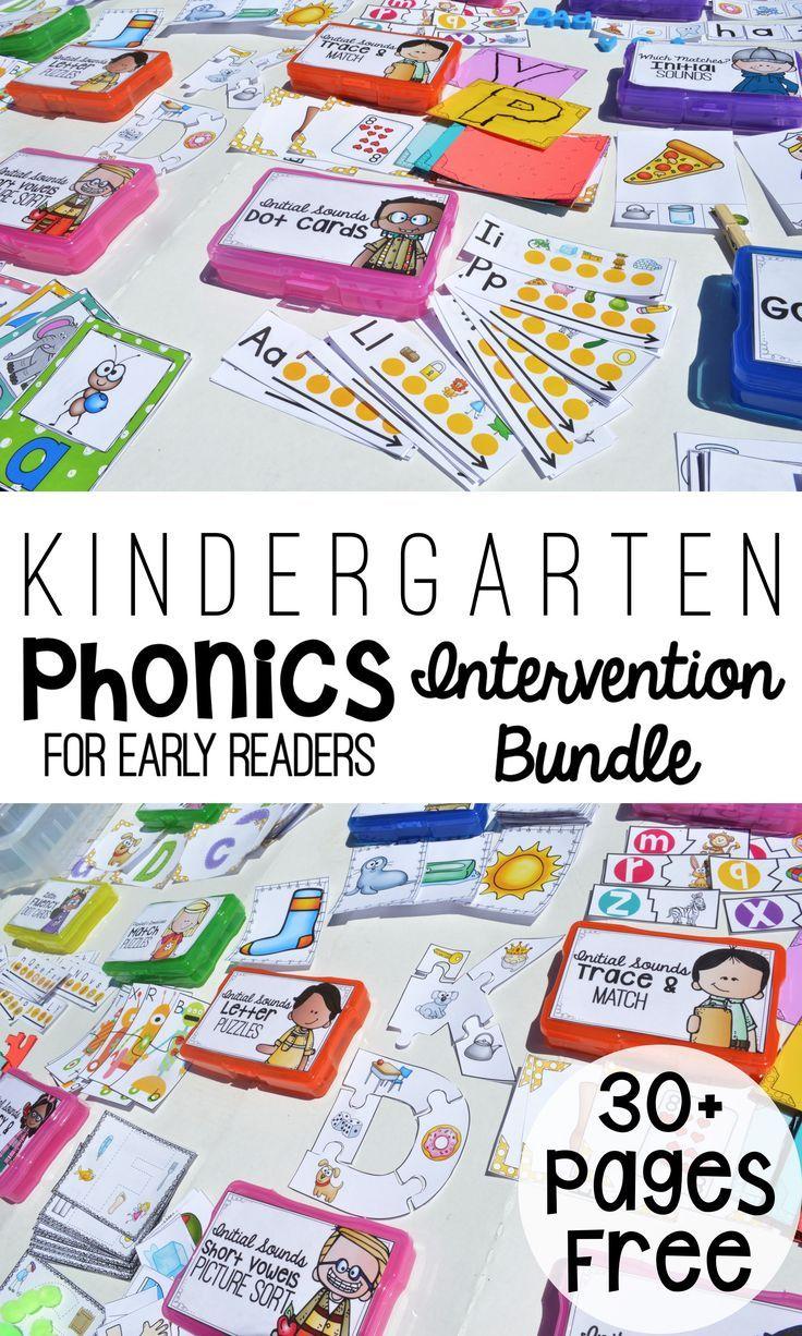 Kindergarten Phonics Intervention Pack Phonics