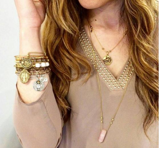 0ae4d46f49add ALEX AND ANI Expandable Necklaces   Rose Quartz Necklace   Phoenix ...