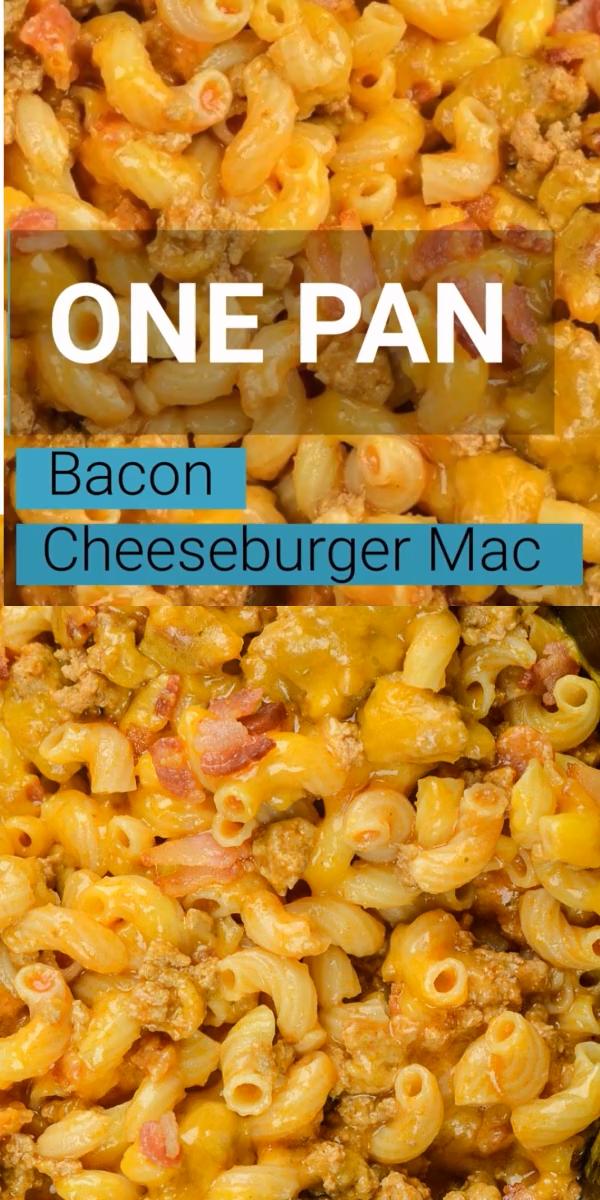 Bacon Cheeseburger Mac (One Pan Recipe!)