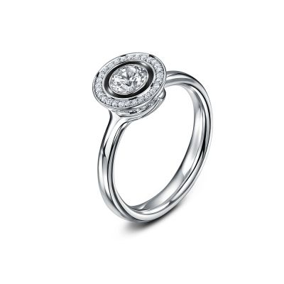 Lacuna in White gold, diamonds by Andrew Geoghegan