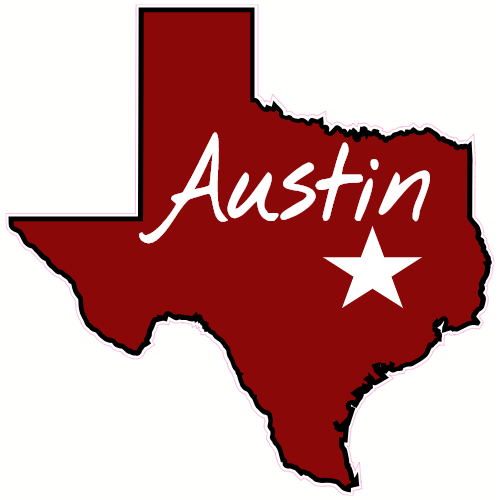 Austin Texas State Shaped Sticker State Shapes Texas Stickers Texas State