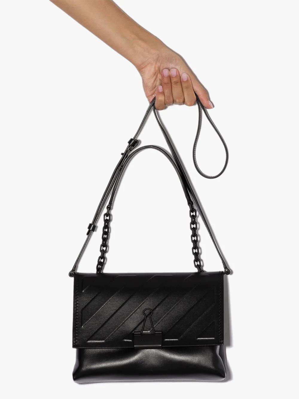 Off White Diag Binder Clip Shoulder Bag Farfetch Shoulder Bag Bags Shoulder