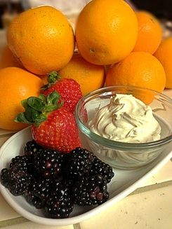 Coconut Whipped Cream with Fresh Berries from paleocupboard.com RECIPE