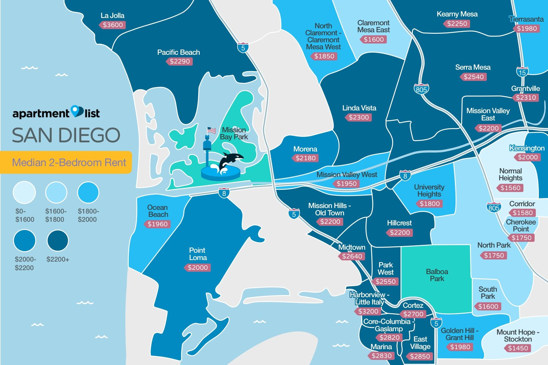 printable san diego neighborhood map San Diego Neighborhood Price Map San Diego Neighborhoods San