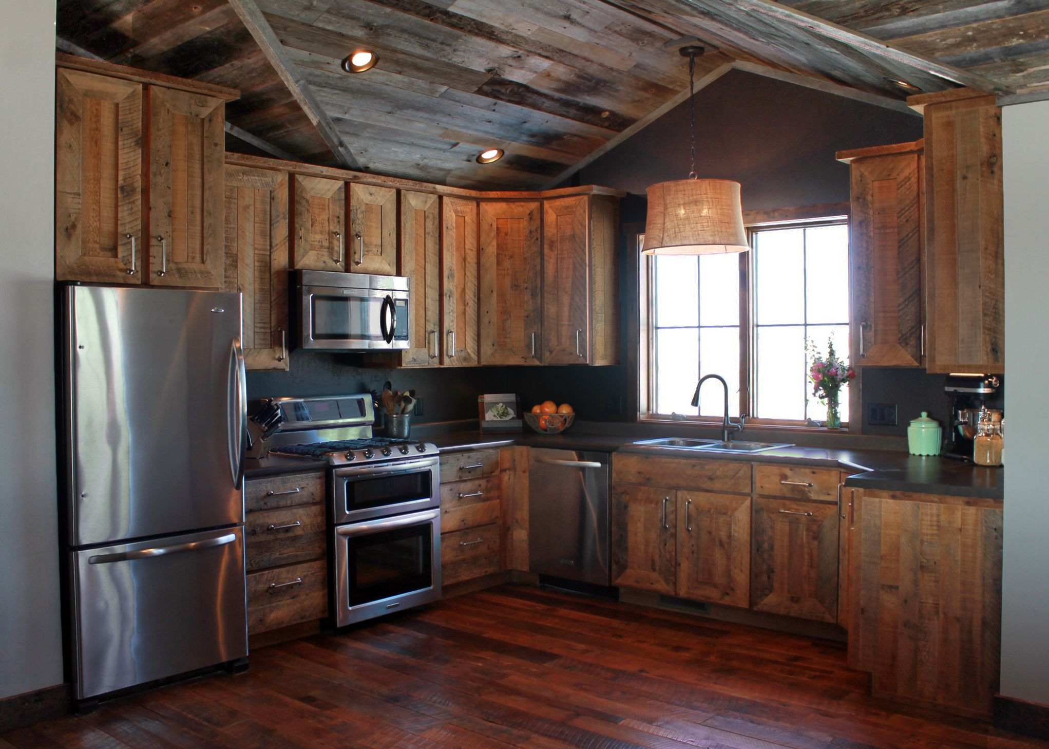 Rustic reclaimed barnwood for ceiling, flooring, and ...