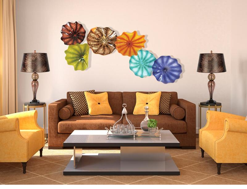 Viz glass wall art find these beautiful wall mounted plates in three different sizes