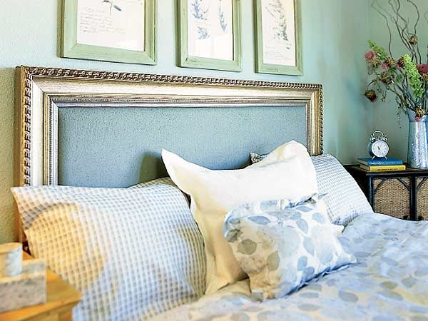 Picture Frame Headboard Create A By Using Decorative Molding From Home Improvement The To Fabric Covered