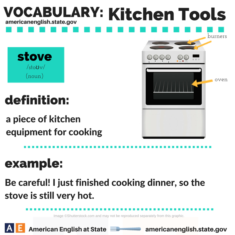 Vocabulary: Kitchen Tools - Stove