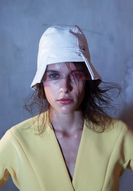 RAIN - JEANNE FAUCHER — PVC/vinyl hat #wandanylon
